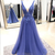 Plunge Neckline Applique Prom Dress Pageant Dresses