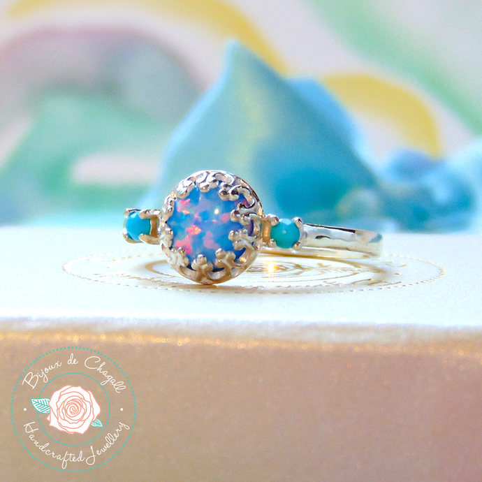 cut rings engagement princess samodz opal ring