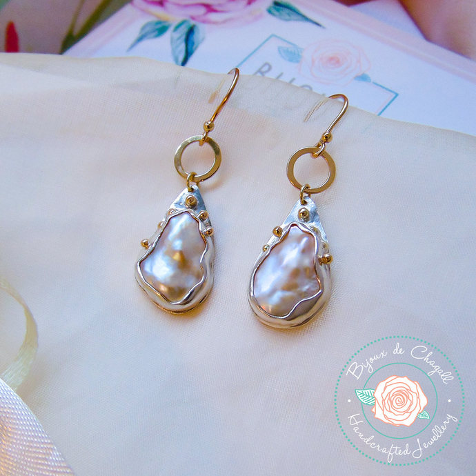 white double pearl gold gray earrings pearls way d products imperial