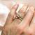 Baby Pink Morganite ring, Morganite Engagement ring, Morganite Queen Crown style