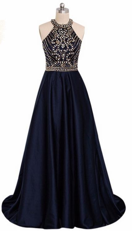 Robe de soiree elegante bleu