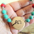 Grandmother Baby Reveal Necklace, Cherokee Language, Turquoise and Red Coral