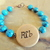 Grandmother Cherokee Language Bracelet, Baby Reveal, Turquoise and Copper