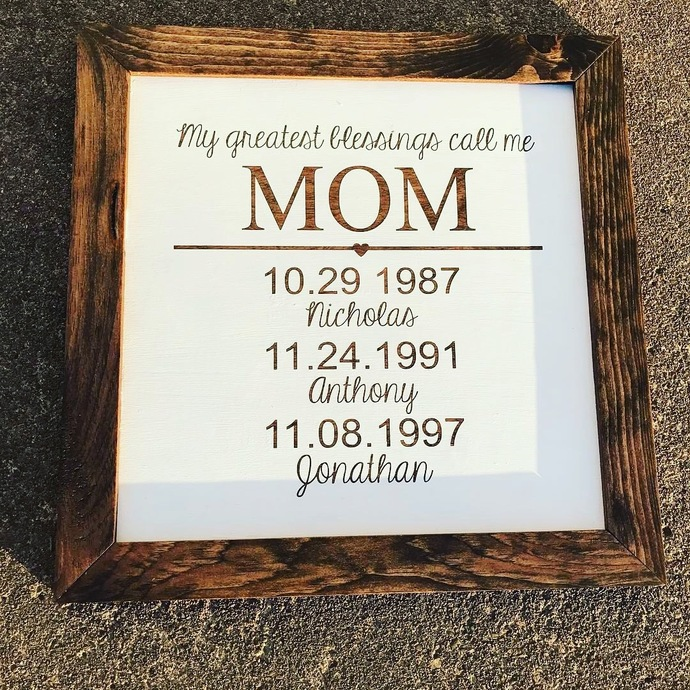 Mother's Day sign - perfect for any mom!  Hand crafted and painted.