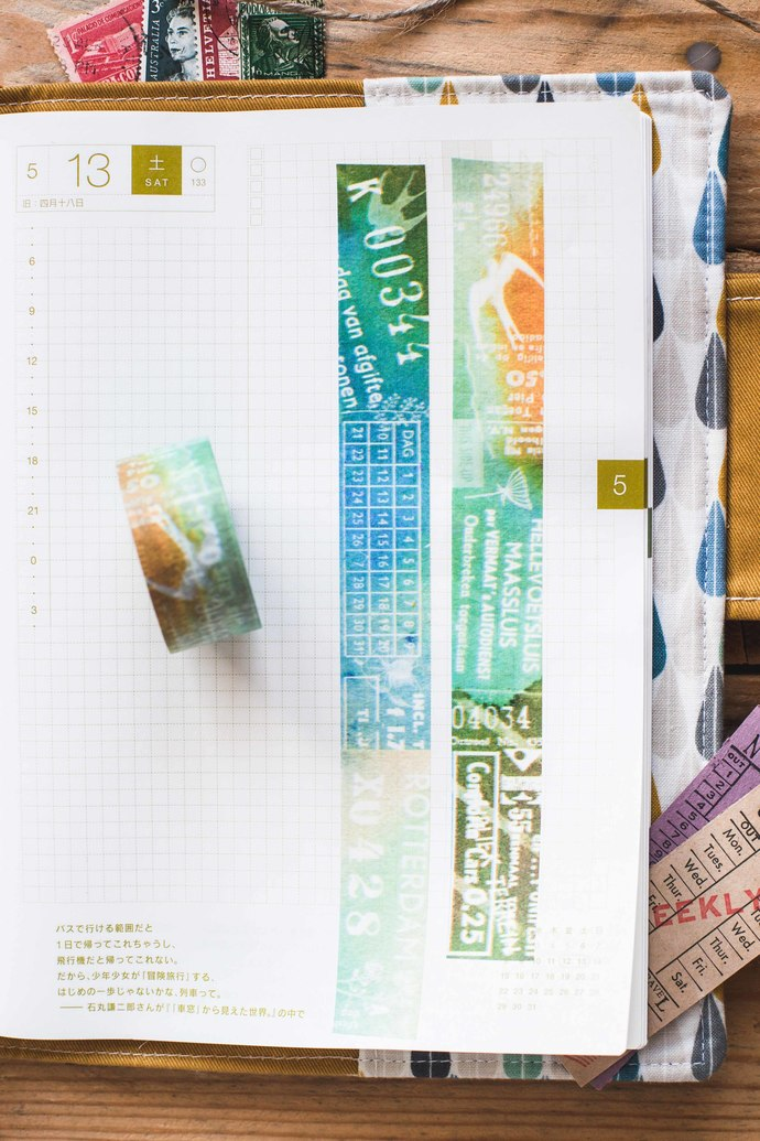 Rotterdam - 2 cm wide washi tape 10m - perfect for Travelers Notebook
