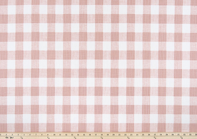 Blush Pink And White In Buffalo Plaid Fabric. Print Fabric By Yard. Premier