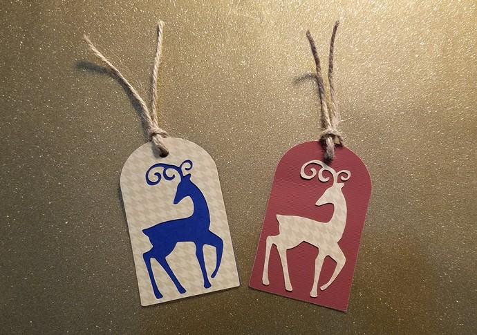 Reindeer Christmas Gift Tags-10 pc. set