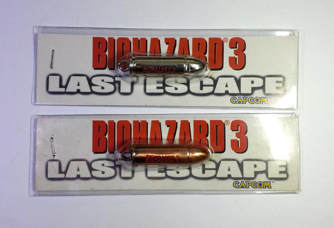 Multiple Variations of Hong Kong Comic BIOHAZARD 3 Promo Bullet Metal Toy -