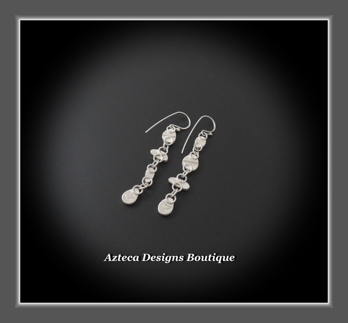 Spring Run~ Australian Opal Doublet Hand Fabricated Silver Artisan Earrings