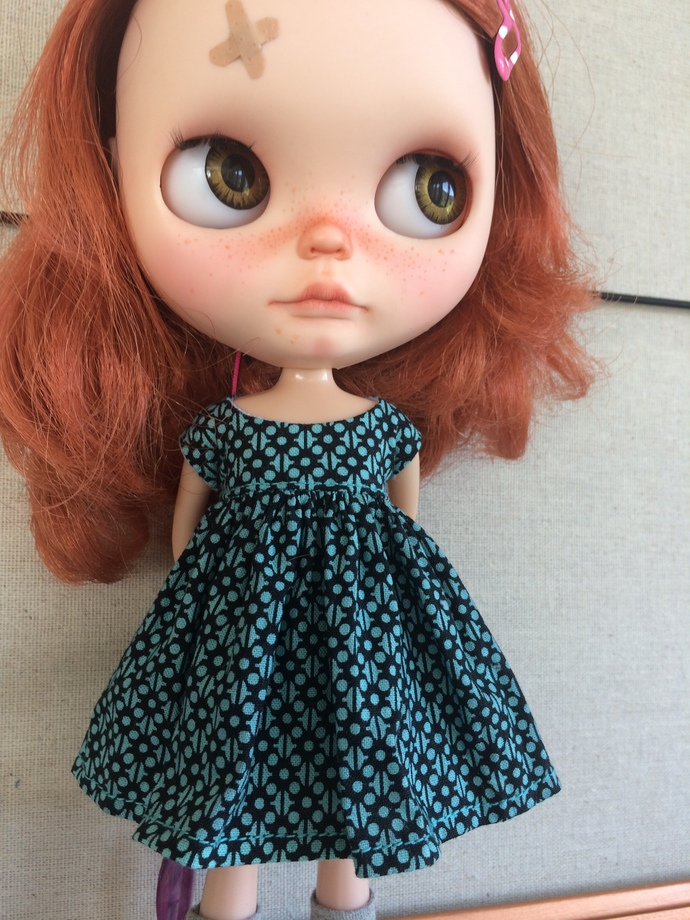 Top or Dress for Blythe Geometry Teal