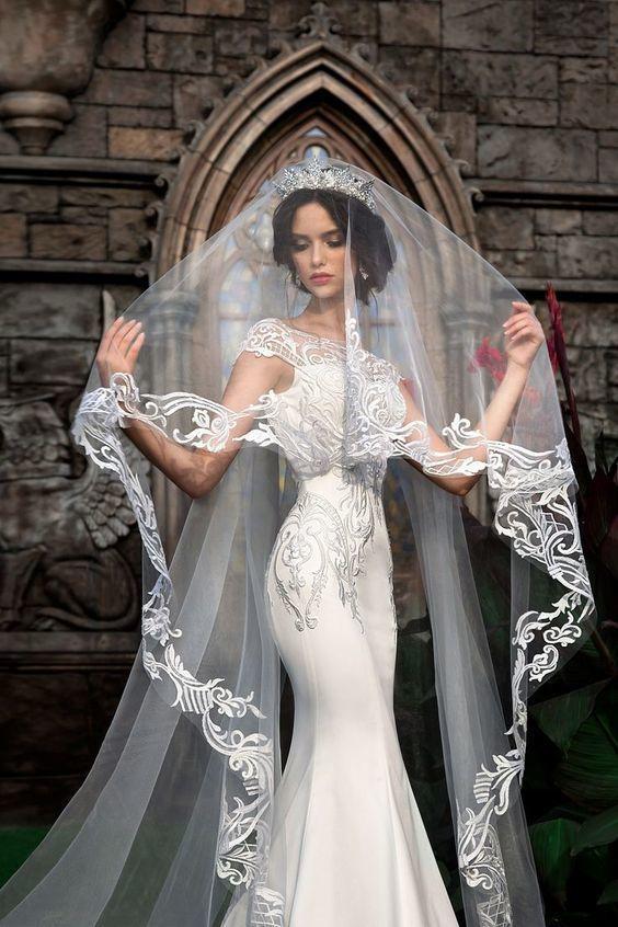 Lace Wedding Veil Beautiful Wedding Veil DestinyDress