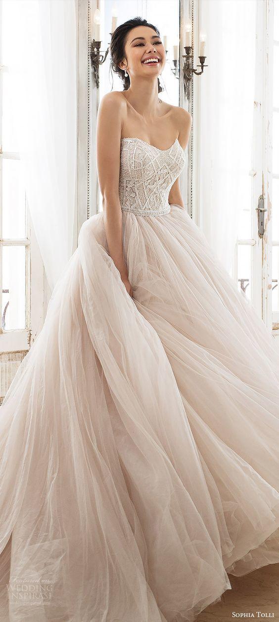 Lace Pink Wedding Dress