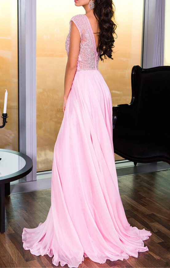 Pink Prom Dress,Pink Evening Gowns,Simple Formal Dresses,Prom Dresses,Teens