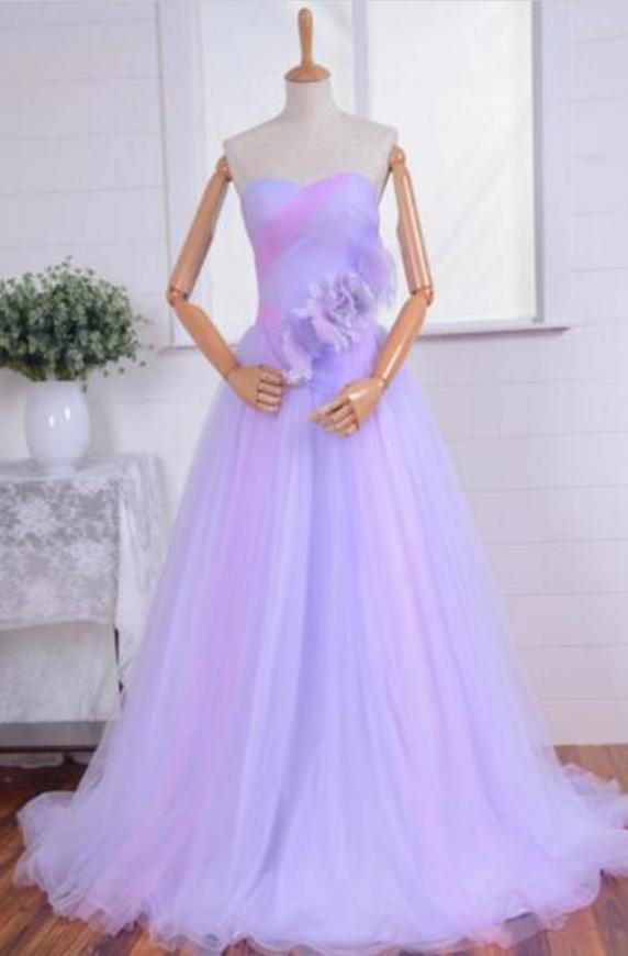 Purple elegant female party dress model by prom dresses on Zibbet