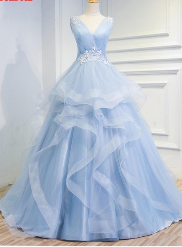 A blue sky evening dress marriage the women by prom dresses on Zibbet