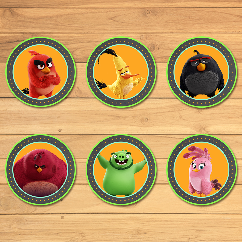 Angry Birds Cupcake Toppers Chalkboard * Angry Birds Birthday * Angry Birds Stickers * Angry Birds Favors * Angry Birds Movie