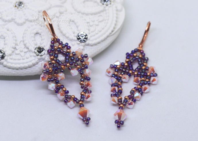 PDF Tutorial - Caterina Earrings Instant download Beadweaving Instruction