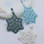 PDF Tutorial - Snowflake Pendant Earrings Beading Instruction Instant download