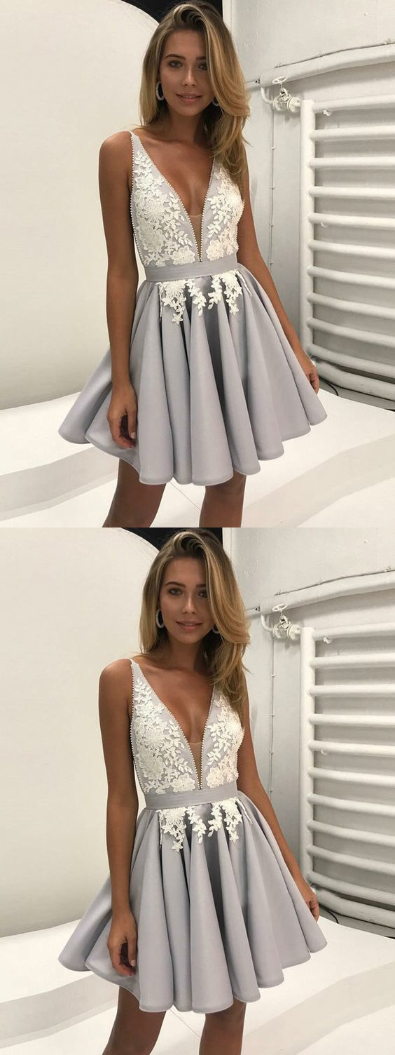 Sexy Appliques Prom Dress, Short Prom Gown, Homecoming Dress