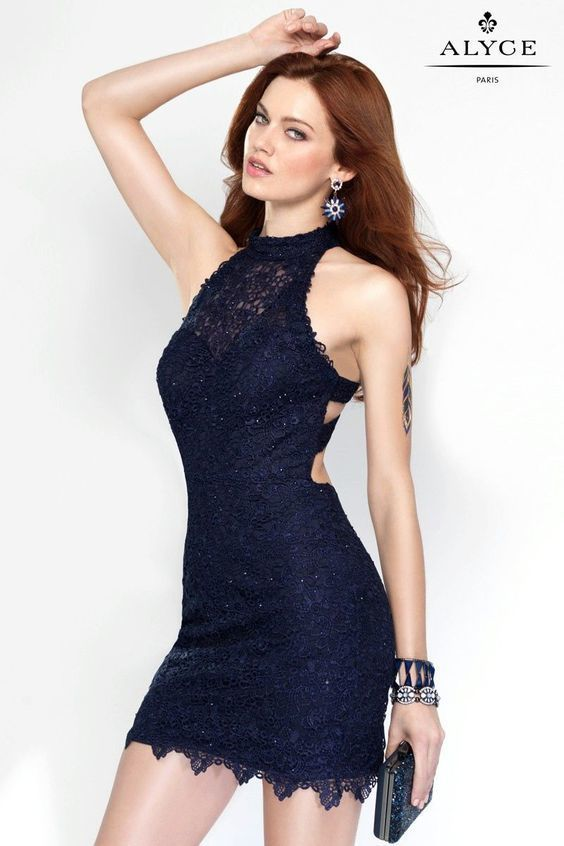e912a4c511e bodycon dress with sweetheart neckline and sheer halter top with strappy  back