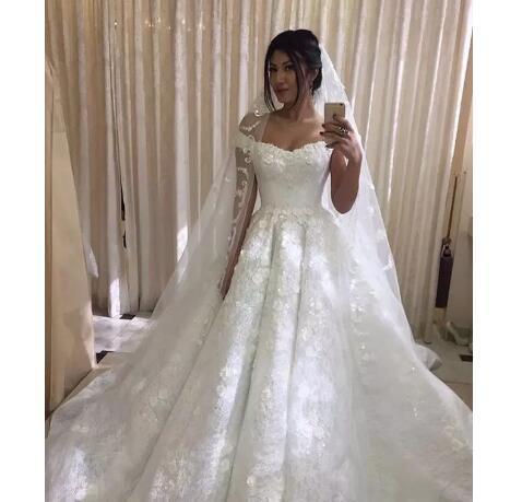 3D Floral Appliqued Wedding Dresses Off by Miss Zhu Bridal on Zibbet