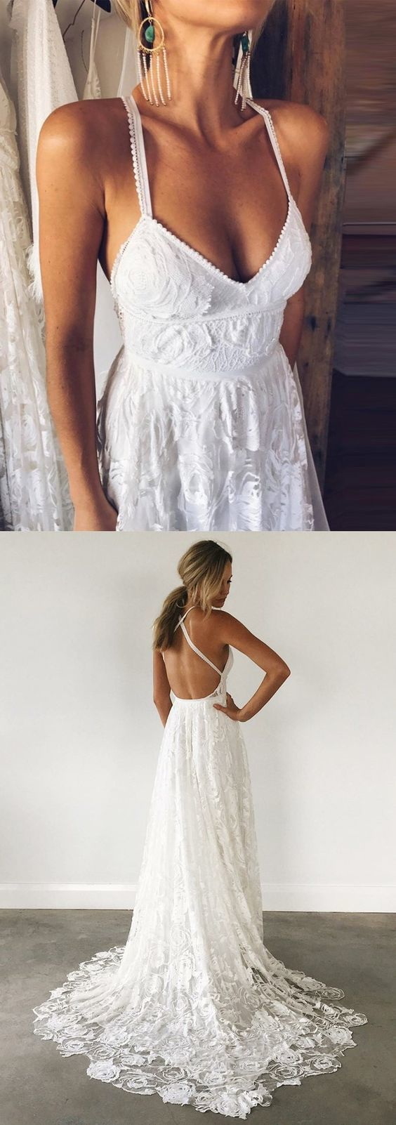 dreamy backless wedding dresses with by Miss Zhu Bridal on Zibbet