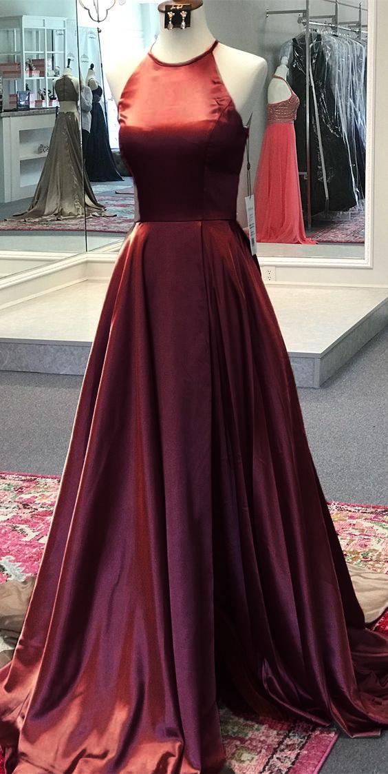 Round Neck Formal Dresses