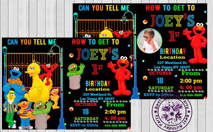 Elmo Invitations 1st Birthday 2nd