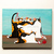 Calico Mother's Day Mom and Kittens Original Cat Folk Art Acrylic Painting
