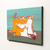Ginger Tabby Mother's Day Mom and Kittens Original Cat Folk Art Acrylic Painting