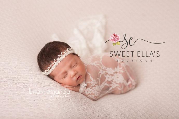 Lace Wrap, Ivory Stretch Wrap, Newborn Lace Wrap, Baby Girl Prop, Newborn Photo