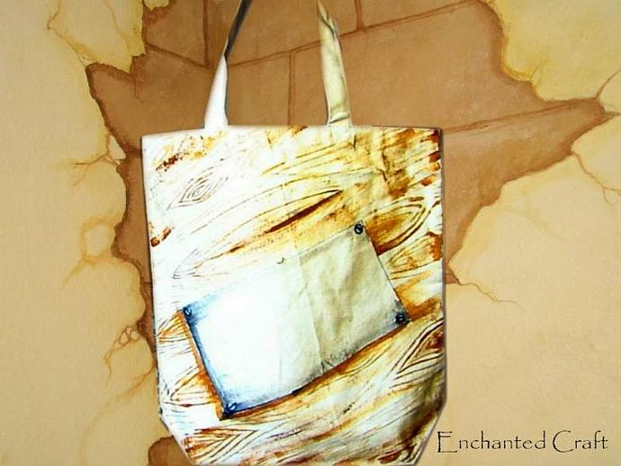 STEAMPUNK tote, bag, or shopping bag- hand painted