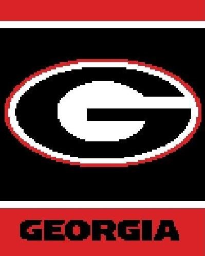 43e075cad Georgia bulldogs pattern celina crochet creations on zibbet jpg 399x498 Georgia  crochet logo