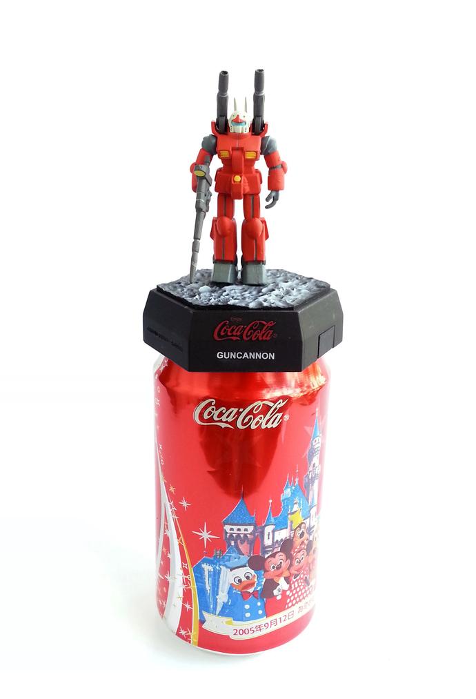 Rare Coca Cola Japanese Anime Gundam 25th Anniversary Limited Can Cap Figure -