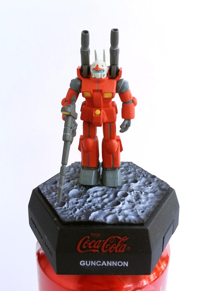 Coca Cola X Gundam 25th Anniversary Limited Can Cap Figure - GUNCANNON Japanese