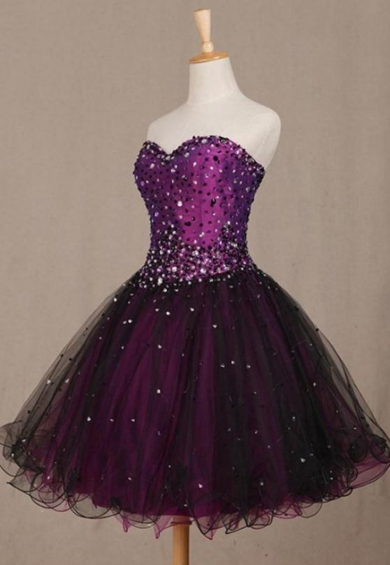 Purple Short Evening Dresses
