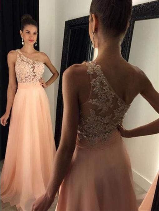 Sexy Backless See Through Back Prom Dress, Charming Chiffon Beading Prom