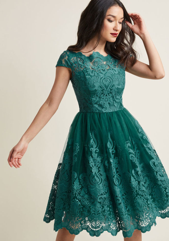 Charming Dark Green Lace Homecoming by prom dresses on Zibbet