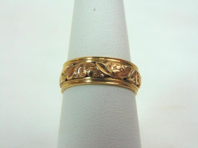 Vintage Estate 14k Yellow Gold Wedding Band Ring 3 5g #E3290