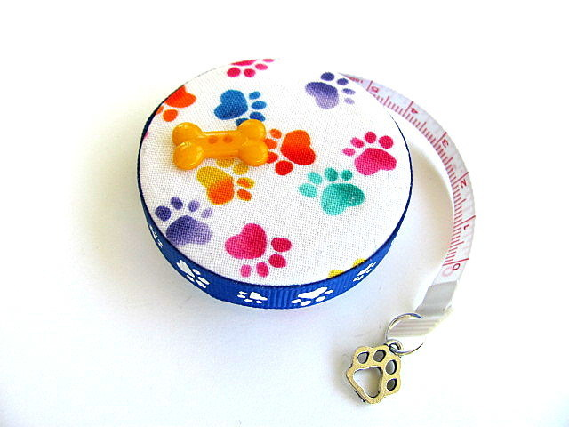 Measuring Tape Rainbow Dog Paws Retractable Pocket Tape Measure