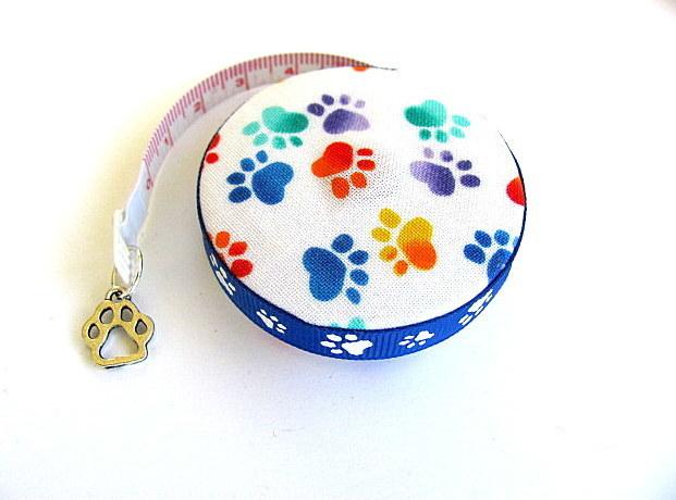 Measuring Tape Rainbow Dog Paws Retractable Pocket Tape Measure