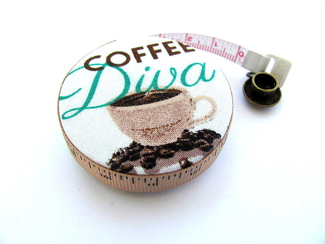 Coffee Diva  Retractable Pocket Tape Measure