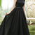 Black High Collar Evening Dresses Backless Brush Prom Dresses
