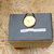 Box in Cement Gray. Box with Brass Button