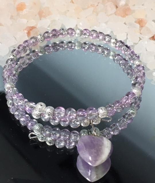 'Offer My Heart'  Amethyst  Bracelet