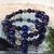 'Sun & Moon' Lapis, Amethyst and Blue Goldstone Bracelet