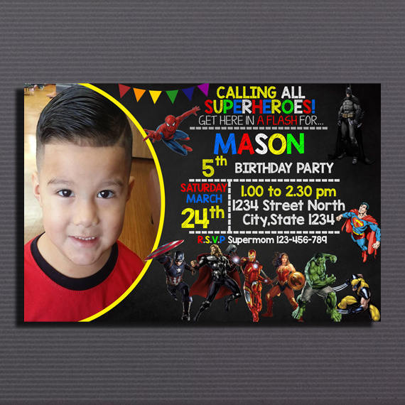 superhero birthday invitation superhero by perrysay on zibbet