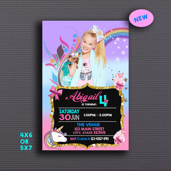 jojo siwa  jojo siwa invitation  jojo siwa by perrysay on