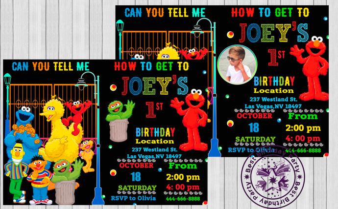 Elmo Invitations 1st Birthday 2nd