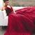 Burgundy Chiffon Prom Dress V Neck Cheap Long Prom Dress #VB2292